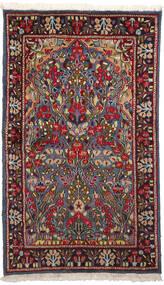 Kerman Matto 90X153 Itämainen Käsinsolmittu Tummanpunainen/Tummanharmaa (Villa, Persia/Iran)