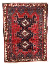 Afshar Matto 125X167 Itämainen Käsinsolmittu Tummanpunainen/Tummanruskea (Villa, Persia/Iran)