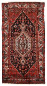 Zanjan Matto 133X250 Itämainen Käsinsolmittu Tummanpunainen/Tummanruskea (Villa, Persia/Iran)