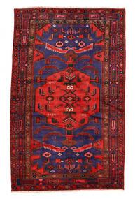 Zanjan Matto 130X214 Itämainen Käsinsolmittu Tummanpunainen/Musta (Villa, Persia/Iran)