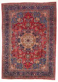 Mashad Matto 197X280 Itämainen Käsinsolmittu Tummanpunainen/Tummanvioletti (Villa, Persia/Iran)