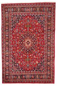 Mashad Matto 197X280 Itämainen Käsinsolmittu Punainen/Tummanruskea (Villa, Persia/Iran)