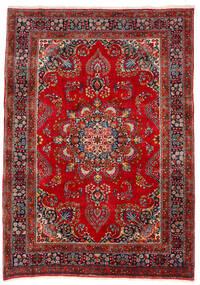 Mashad Matto 201X283 Itämainen Käsinsolmittu Tummanpunainen/Ruoste (Villa, Persia/Iran)