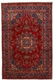 Mashad Matto 192X294 Itämainen Käsinsolmittu Tummanpunainen/Punainen (Villa, Persia/Iran)