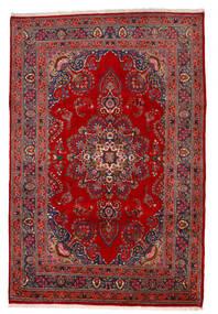 Mashad Matto 195X293 Itämainen Käsinsolmittu Ruoste/Tummanpunainen/Tummanvioletti (Villa, Persia/Iran)