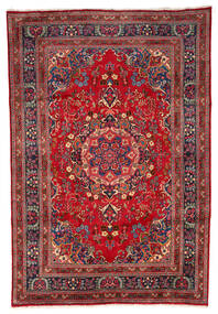 Mashad Matto 199X297 Itämainen Käsinsolmittu Tummanpunainen/Tummanruskea (Villa, Persia/Iran)