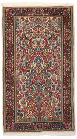 Kerman Matto 86X153 Itämainen Käsinsolmittu Tummanruskea/Tummanpunainen (Villa, Persia/Iran)
