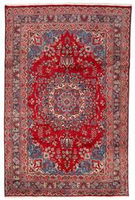 Mashad Matto 190X305 Itämainen Käsinsolmittu Punainen/Tummanpunainen (Villa, Persia/Iran)