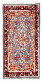 Kerman Matto 59X119 Itämainen Käsinsolmittu Vaaleansininen/Tummanpunainen (Villa, Persia/Iran)