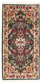 Kerman Matto 58X120 Itämainen Käsinsolmittu Tummanharmaa/Tummanpunainen (Villa, Persia/Iran)