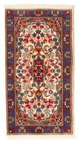 Kerman Matto 64X119 Itämainen Käsinsolmittu Tummanpunainen/Punainen (Villa, Persia/Iran)