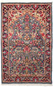 Kerman Matto 95X155 Itämainen Käsinsolmittu Tummanharmaa/Ruoste (Villa, Persia/Iran)