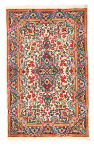 Kerman Matto 90X140 Itämainen Käsinsolmittu Vaaleanharmaa/Beige (Villa, Persia/Iran)