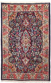 Kerman Matto 91X146 Itämainen Käsinsolmittu Tummanvioletti/Tummanpunainen (Villa, Persia/Iran)