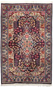Kerman Matto 92X147 Itämainen Käsinsolmittu Tummanvioletti/Tummanpunainen (Villa, Persia/Iran)