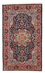 Kerman Matto 122X208 Itämainen Käsinsolmittu Tummanpunainen/Tummanvioletti (Villa, Persia/Iran)