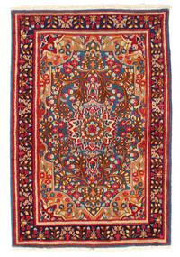 Kerman Matto 119X178 Itämainen Käsinsolmittu Tummanpunainen/Tummanvioletti (Villa, Persia/Iran)