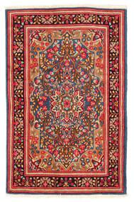 Kerman Matto 117X184 Itämainen Käsinsolmittu Ruoste/Valkoinen/Creme (Villa, Persia/Iran)