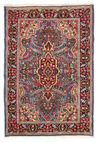 Kerman Matto 119X174 Itämainen Käsinsolmittu Tummanpunainen/Tummanruskea (Villa, Persia/Iran)