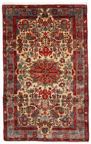 Nahavand Old Matto 155X247 Itämainen Käsinsolmittu Tummanpunainen/Tummanruskea (Villa, Persia/Iran)