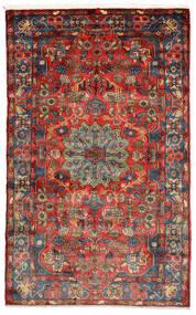 Nahavand Old Matto 156X248 Itämainen Käsinsolmittu Musta/Tummanpunainen (Villa, Persia/Iran)