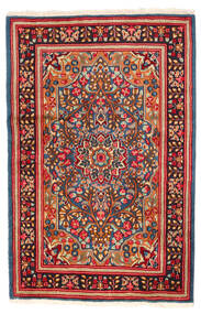 Kerman Matto 121X185 Itämainen Käsinsolmittu Punainen/Tummanpunainen (Villa, Persia/Iran)