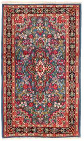 Kerman Matto 118X202 Itämainen Käsinsolmittu Tummanpunainen/Beige (Villa, Persia/Iran)