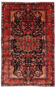 Nahavand Old Matto 157X250 Itämainen Käsinsolmittu Tummanpunainen/Tummanruskea (Villa, Persia/Iran)