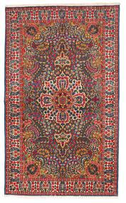 Kerman Matto 147X245 Itämainen Käsinsolmittu Musta/Ruoste (Villa, Persia/Iran)