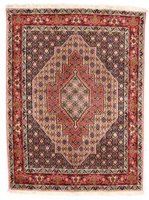 Senneh Matto 120X160 Itämainen Käsinsolmittu Tummanruskea/Vaaleanruskea (Villa, Persia/Iran)