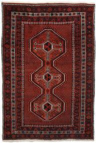 Afshar Matto 150X225 Itämainen Käsinsolmittu Tummanpunainen/Tummanruskea (Villa, Persia/Iran)