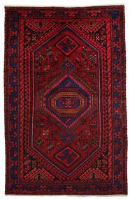 Hamadan Matto 151X231 Itämainen Käsinsolmittu Tummanpunainen/Punainen (Villa, Persia/Iran)