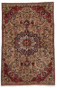 Tabriz Matto 151X233 Itämainen Käsinsolmittu Tummanruskea/Vaaleanruskea (Villa, Persia/Iran)