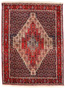 Senneh Matto 123X163 Itämainen Käsinsolmittu Tummanruskea/Tummanpunainen (Villa, Persia/Iran)