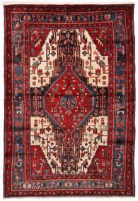 Nahavand Matto 161X235 Itämainen Käsinsolmittu Tummanpunainen (Villa, Persia/Iran)