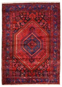 Zanjan Matto 140X200 Itämainen Käsinsolmittu Tummanpunainen/Ruoste (Villa, Persia/Iran)