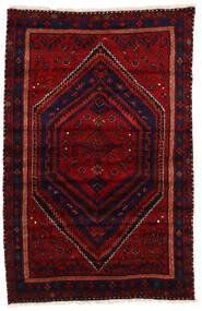 Zanjan Matto 144X228 Itämainen Käsinsolmittu Tummanpunainen/Punainen (Villa, Persia/Iran)