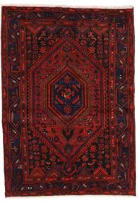 Zanjan Matto 139X200 Itämainen Käsinsolmittu Tummanpunainen/Ruoste (Villa, Persia/Iran)