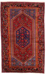 Hamadan Matto 135X215 Itämainen Käsinsolmittu Tummanpunainen/Tummanruskea (Villa, Persia/Iran)