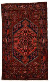Zanjan Matto 124X211 Itämainen Käsinsolmittu Tummanpunainen (Villa, Persia/Iran)