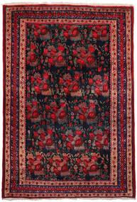 Afshar Matto 157X228 Itämainen Käsinsolmittu Tummanpunainen/Tummansininen (Villa, Persia/Iran)