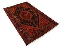 Zanjan Matto 139X221 Itämainen Käsinsolmittu Tummanpunainen/Ruoste (Villa, Persia/Iran)