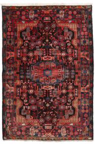 Nahavand Matto 152X245 Itämainen Käsinsolmittu Tummanpunainen/Musta (Villa, Persia/Iran)