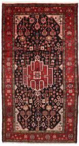 Nahavand Matto 156X286 Itämainen Käsinsolmittu Tummanpunainen/Tummanruskea (Villa, Persia/Iran)