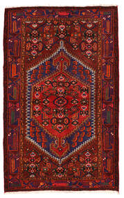 Zanjan Matto 136X218 Itämainen Käsinsolmittu Tummanpunainen/Tummanvioletti (Villa, Persia/Iran)