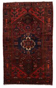 Zanjan Matto 132X220 Itämainen Käsinsolmittu Tummanpunainen (Villa, Persia/Iran)
