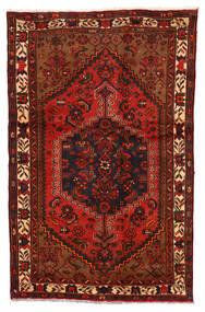 Zanjan Matto 122X192 Itämainen Käsinsolmittu Tummanruskea/Ruoste (Villa, Persia/Iran)