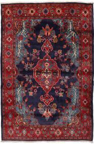 Mahal Matto 162X240 Itämainen Käsinsolmittu Tummanpunainen/Tummanvioletti (Villa, Persia/Iran)