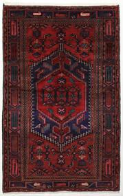 Zanjan Matto 134X213 Itämainen Käsinsolmittu Tummanpunainen (Villa, Persia/Iran)