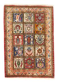 Bakhtiar Collectible Matto 105X150 Itämainen Käsinsolmittu Punainen/Tummanharmaa (Villa, Persia/Iran)